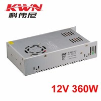 KWN Single Output S-360-12 12 Volt 30 Amp Power Supply for Indoor Usage