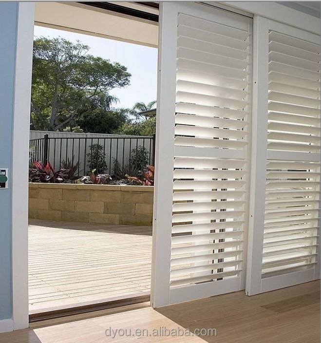 High Quality Well Design Aluminum Exterior Glass Louver Door View Exterior G