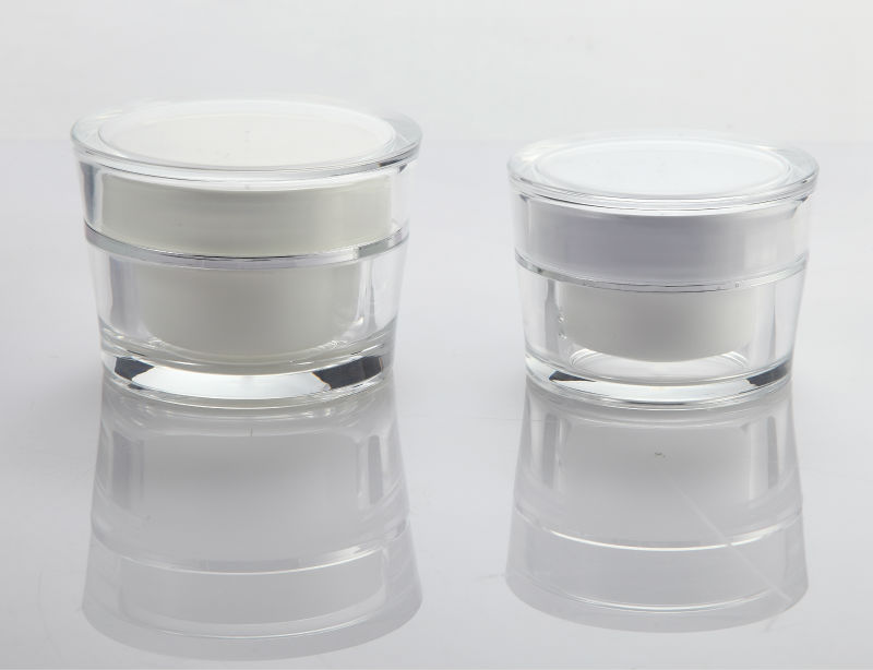 frosted acrylic cosmetic cream jar