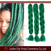 Green pre braided hair extension/yaki straight new style jumbo braid
