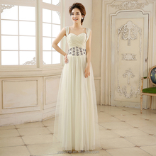 Wholesale Cheap Long Pleated Formal Evening Gowns With Rhinestone