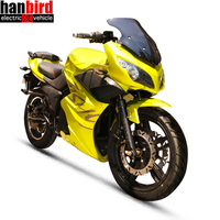 Hanbird 72v 3000w Motor Racing China Electric Motorcycle for Sale