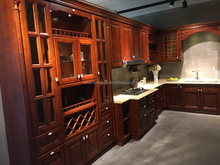 Aisen most popular home design solid wood kitchen cabinet furniture with Blum kitchen drawers