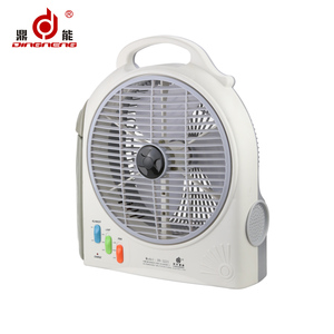 Summer hot selling emergency led lantern rechargeable wall fan with air cooler