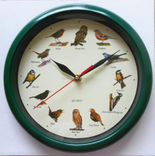 Hourly Music Wall Clock Bird Cat Dog Animal Horse Instrument Sound wall clock