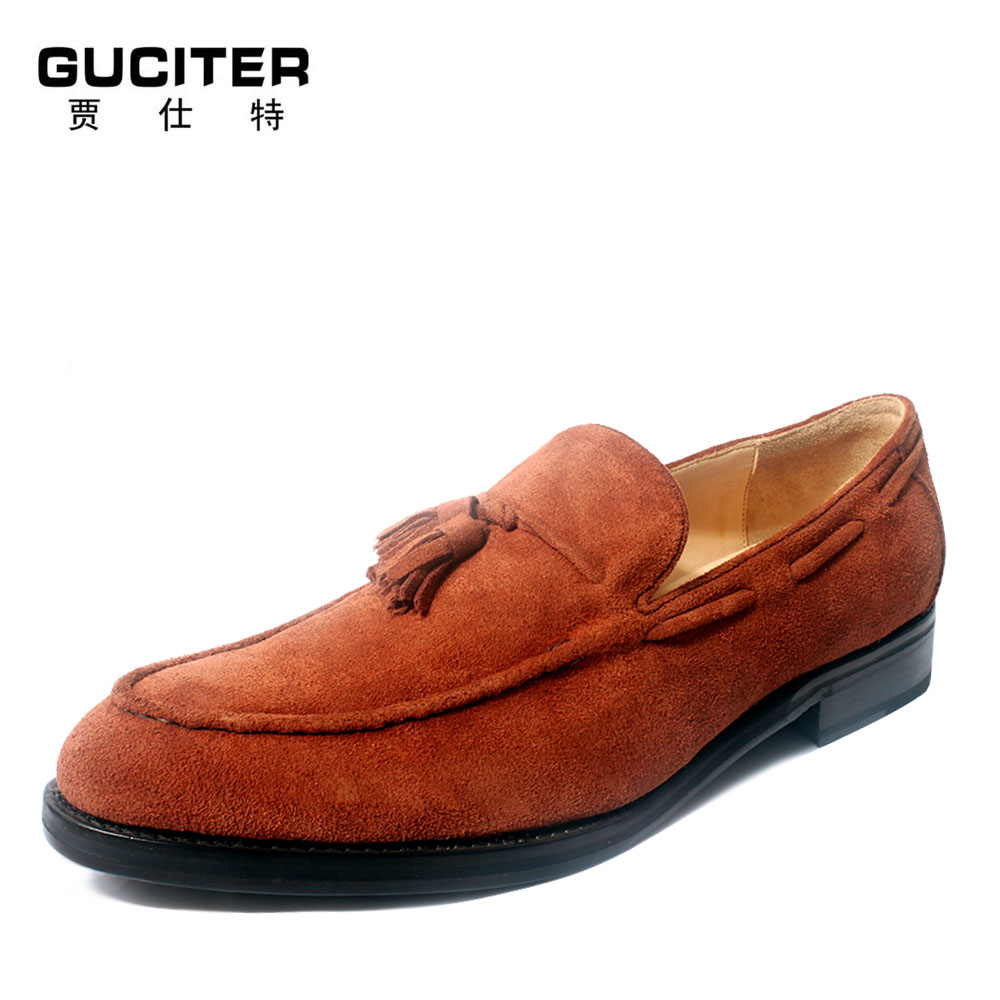2016 summer new product a foot set comfortable flocking leather loafers Manual customization business casual men's shoes