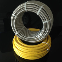 Yellow Corrugated Stainless Steel Flexible Natural Gas Hose