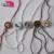 Custom fashion seal garment metal tag/hang tag string lock plastic sealing tag