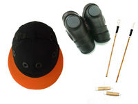 polo helmet/2 polo mallets/ polo knee guard and padded