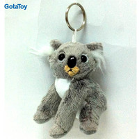 Custom peluche toy keychain stuffed soft plush koala keyring toy
