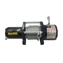 JT-S1104-6000A 6000 lbs 12V electric remote control winch for offroad 4x4