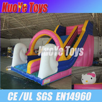 inflatable wet&dry slide/ gaint slides /inflatable toys with hallo Kitty
