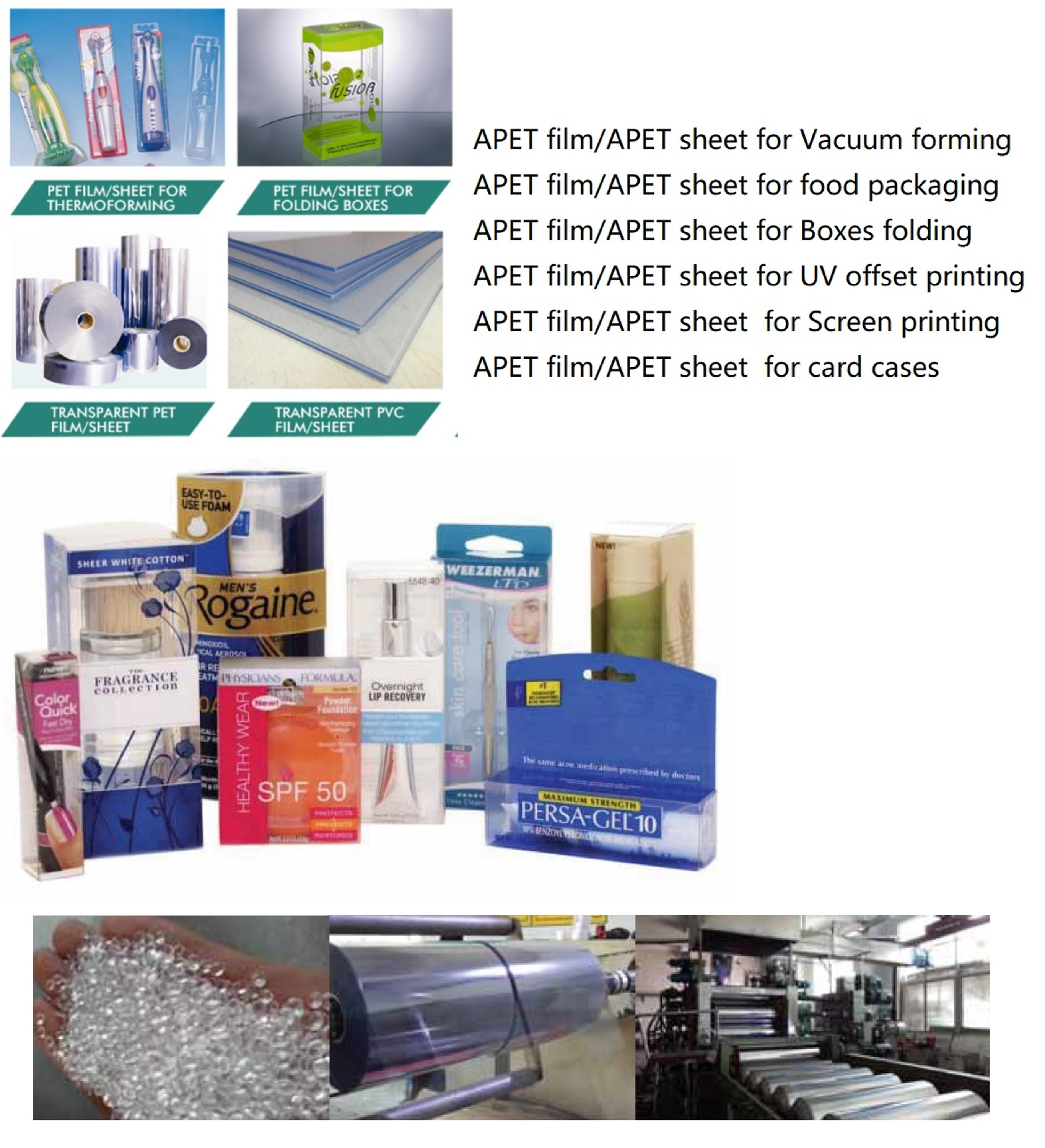 PET rigid film ,PET film thermoforming,Vaccum forming APET film