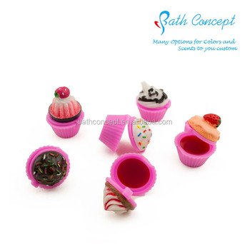Cupcake shape waterproof moisturizing children lip balm