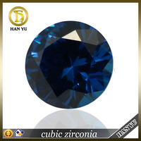 Bulk wholesales 12mm round blue Cubic zirconia fake gems
