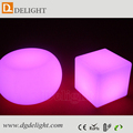 Most Popular LED Garden Chair Stool 40cm LED Cube Chair with Rechargeable Battery