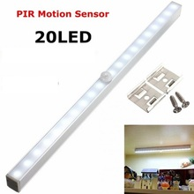 Motion Sensor Closet Light 20 LED Wireless Activated Night Light Under Cabinet Lighting Panty Auto Lamp Battery Operated
