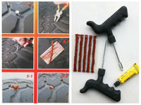 Tubeless Tire Repair Plug Kit Tire Patch Fix Tools Puncture Repair