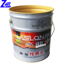 5 gallon custom logo printed paint tin/tinplate bucket with lid&handle