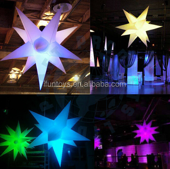 Led light up star decoration for any nightclub, Venue, wedding, party,stage