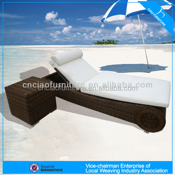 <strong>U</strong> Outdoor rattan furniture stackable beach chaise lounge (GB-<strong>20</strong>)