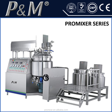 Stainless steel cosmetic cream mixer mixing tanks with vacuum emulsifier