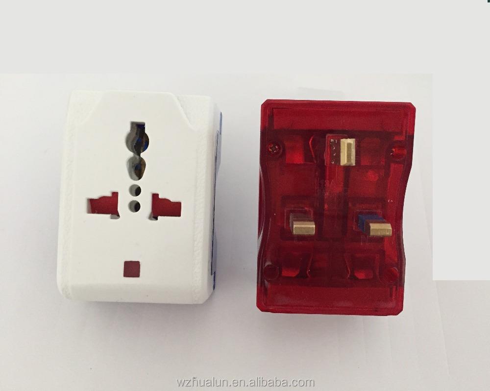 Electric Brass Wall Plug 3 Way Pins Multi Plastic Plug Socket ...