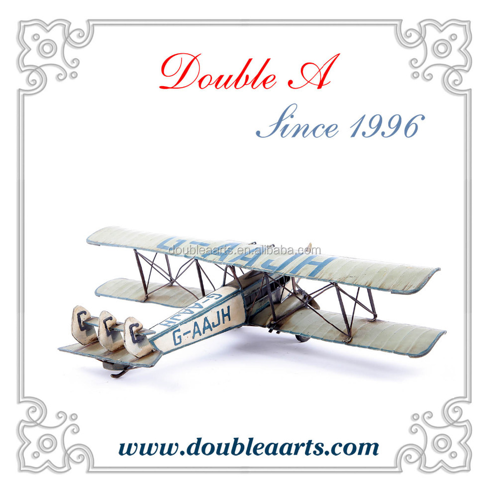 Wholesale metal crafts glider model metal airplane handicraft iron crafts collection decoration for home