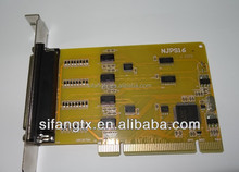 free sample,Industrial PCI 16 Ports RS232 Serial Card, 64 Bit, 2000 V Surge Protection,UK Chip