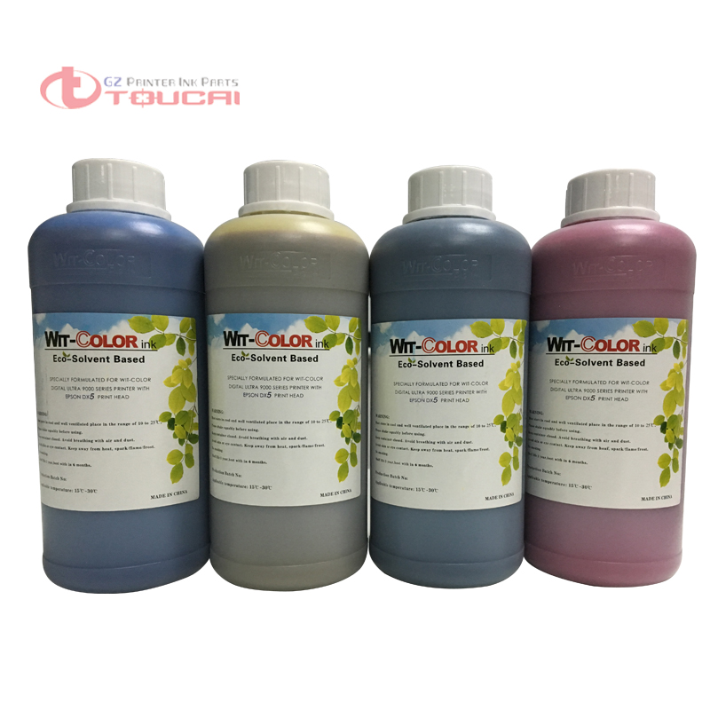 Eco solvent based type digital printing DX5 wit color ink for ultra