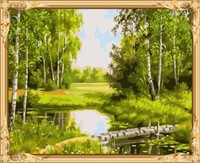 landscape picture by numbers canvas oil painting for war art GX7307