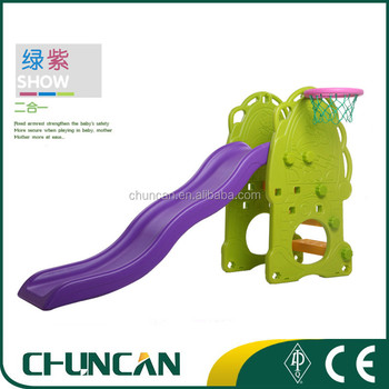 2017 Chuncan Indoor Plastic Slide and Basketball Stand