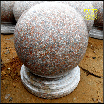 Wholesale Hot Sale Natural Marble Red Granite Roadblocks Stone Ball For