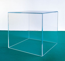 Clear Lucite Cube Box Case 5 Sided Display Box Pedestal Acrylic Display Cube Wholesale