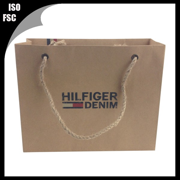 durable t-shirt paper shopping bag twine handle