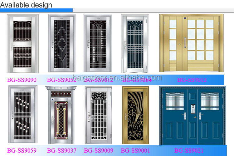 Bg ss9401 industrial doors used stainless steel grill Front door grill designs india