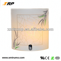 Square white glass decoration indoor led ceiling light fittings