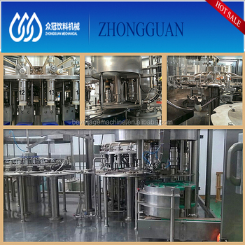 Automatic carbonated sparkling water filling machine / glass bottle filling machine