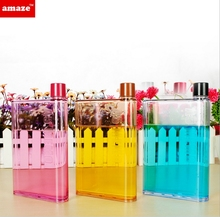 Hotselling Mini A5 Memo plastic Bottle Memo Water Bottle Flat notebook Bottle