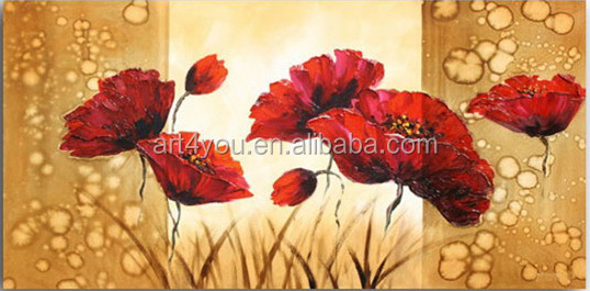 100% Handmade newest abstract fabric flower oil painting in vase