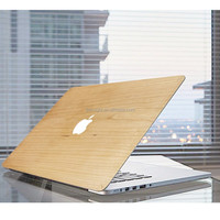 "Ultra Slim Light Weight Wooden Hard Case Cover for Macbook Pro, Bamboo Wood Skin for Macbook 11"" 12"" 13"" 15"""