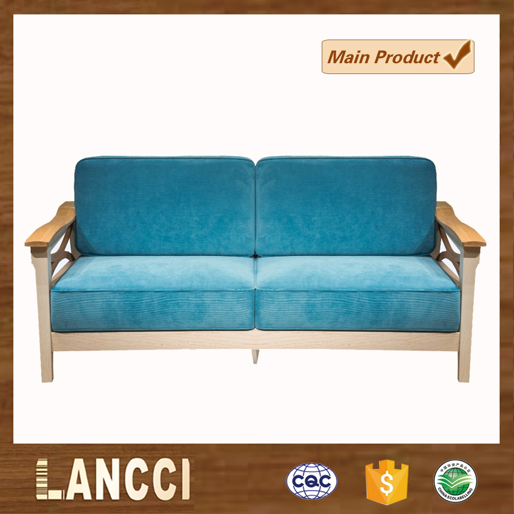 Simple style modern wooden u shape sofa