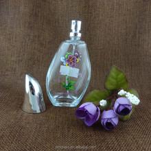 50ml new design high quality perfume bottle glass with snap sprayer