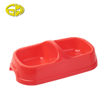 Various color and well design double plastic pet diner bowl