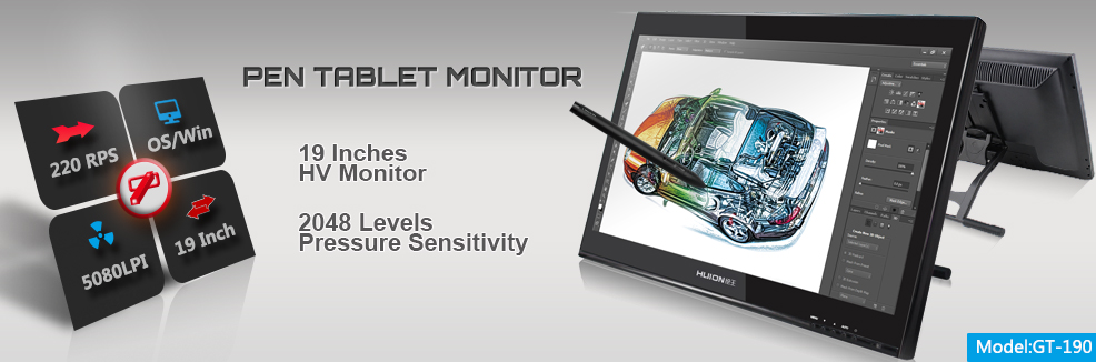19 inch tablet pen display monitor for artist gt-190