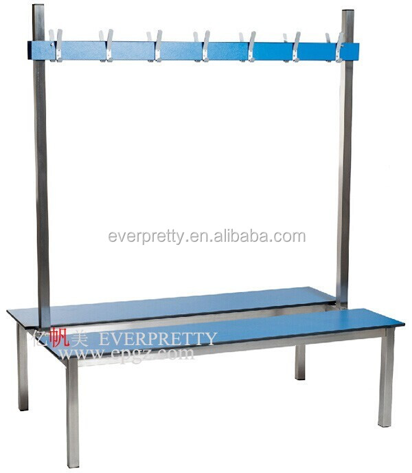 Waterproof Compact Bench Chairs with Clothes Hanger for Shower Room