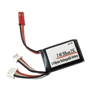 7.4v 200mAh lithium polymer Battery Pack for RC car Power Tool and UAV