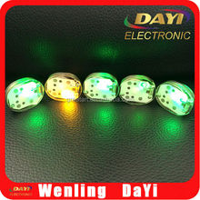 Small colored led battery flashing clothes apparel light