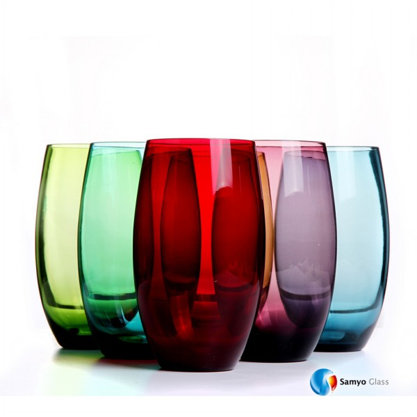 wholesale high quality handmade art colorful table drinking glassware