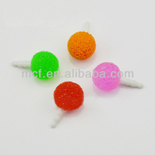 Funny decorated ball cell phone anti dust plug/wholesale cell phone dust plugs MCD-0058